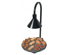Hatco Glo - Ray ® Portable Round Heated Stone Shelf With Decorative Lamp