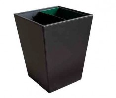 Square Litter Bin with Metal Innerliner